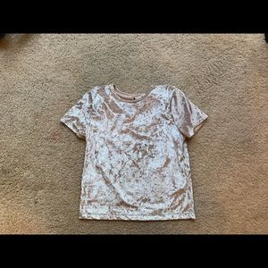 Hollister velvet cream crop top